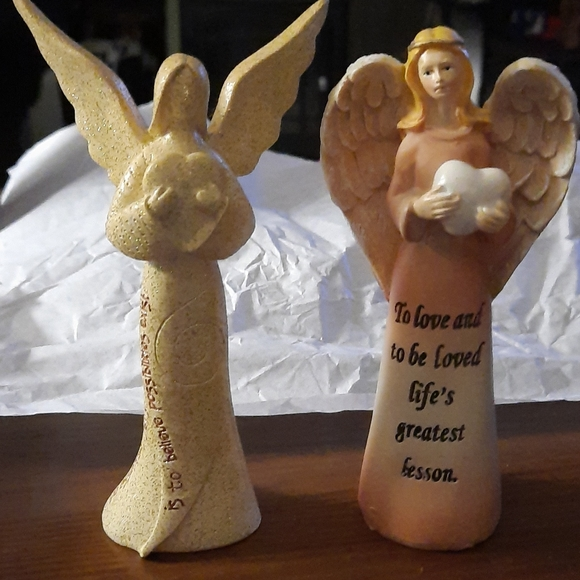 "Two 5 "" Angels with messages"